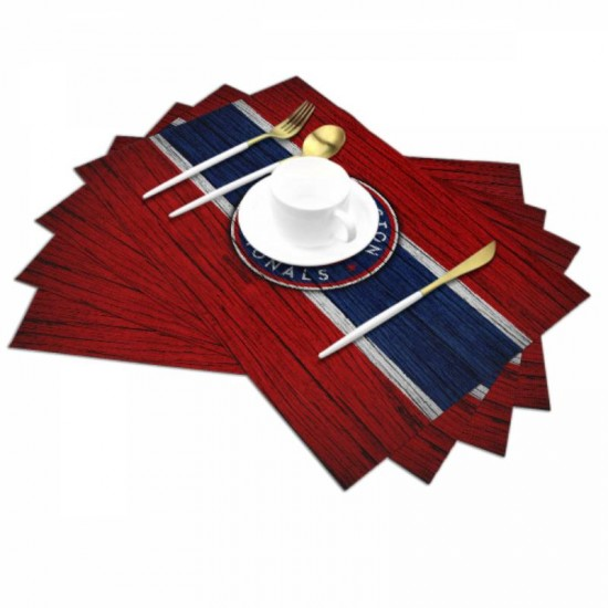 PVC Woven MLB Washington Nationals Woven placemat #353761 for Dining Table