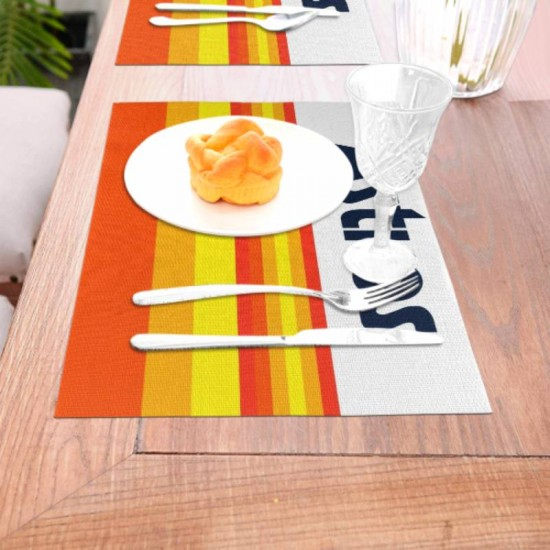 Anti-Skid Houston Astros Woven placemat #354152 Placemats, 18x12 inches