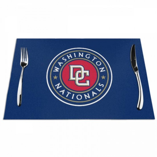 Stain Resistant MLB Washington Nationals Woven placemat #353859 for home